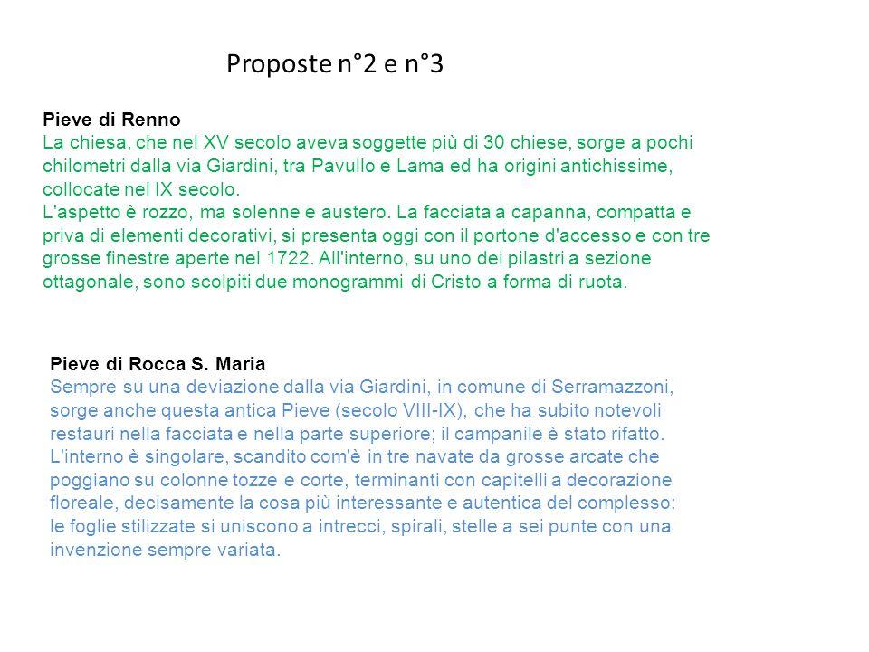 Proposte n°2 e n°3 Pieve di Renno