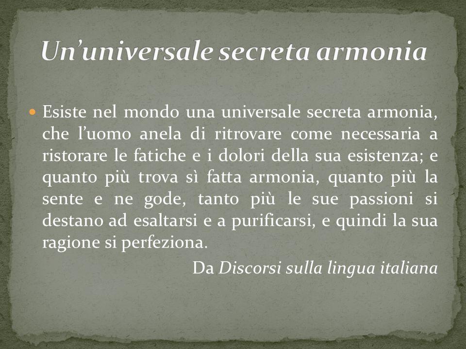 Un'universale secreta armonia