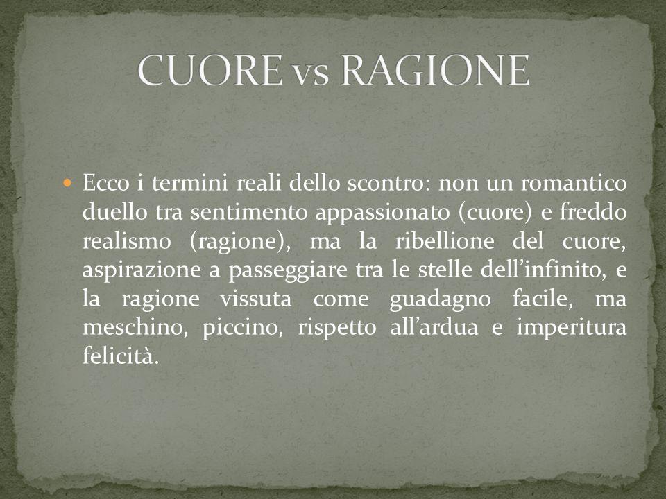 CUORE vs RAGIONE