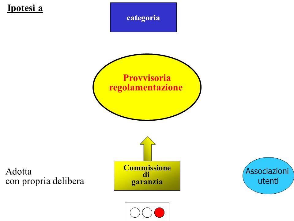 Ipotesi a Provvisoria proposta regolamentazione Adotta
