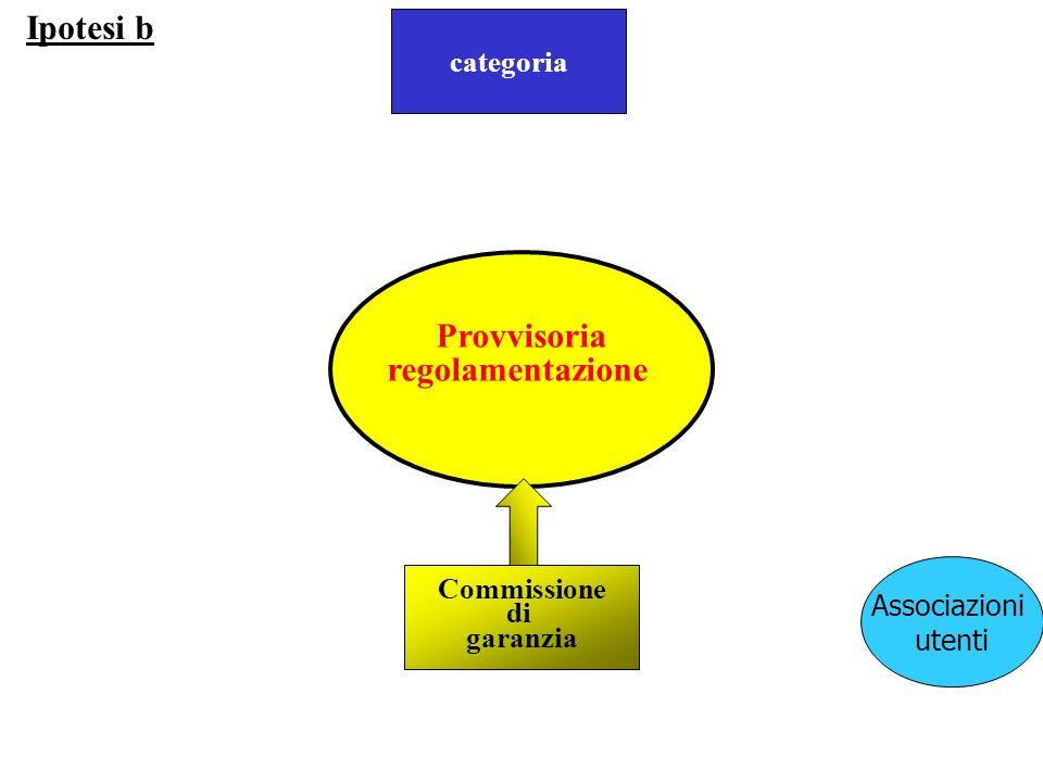 Ipotesi b Provvisoria proposta regolamentazione categoria Commissione