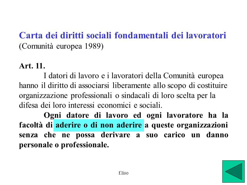 Carta dei diritti sociali fondamentali dei lavoratori