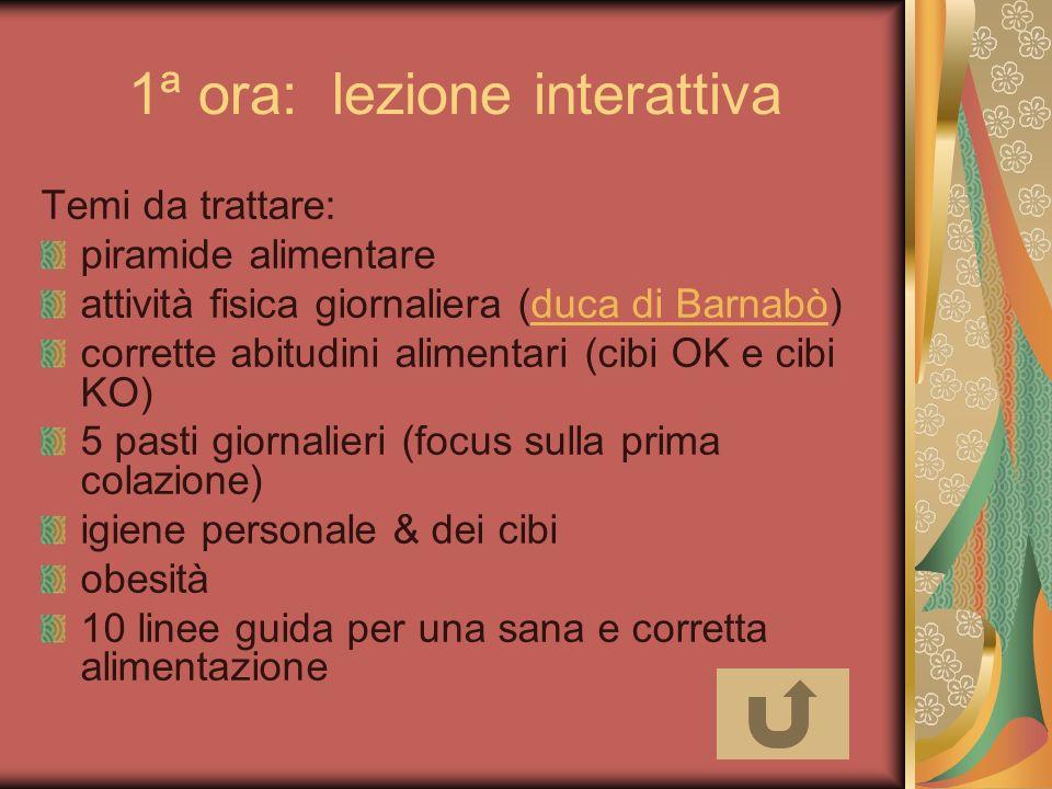 1ª ora: lezione interattiva