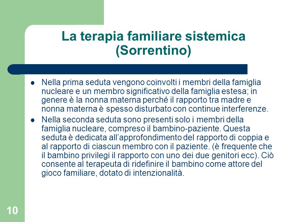 La terapia familiare sistemica (Sorrentino)