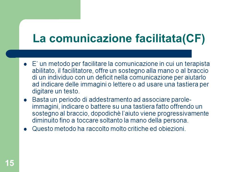 La comunicazione facilitata(CF)