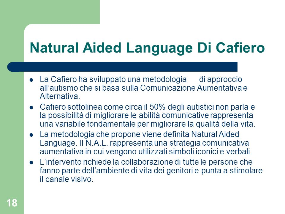 Natural Aided Language Di Cafiero