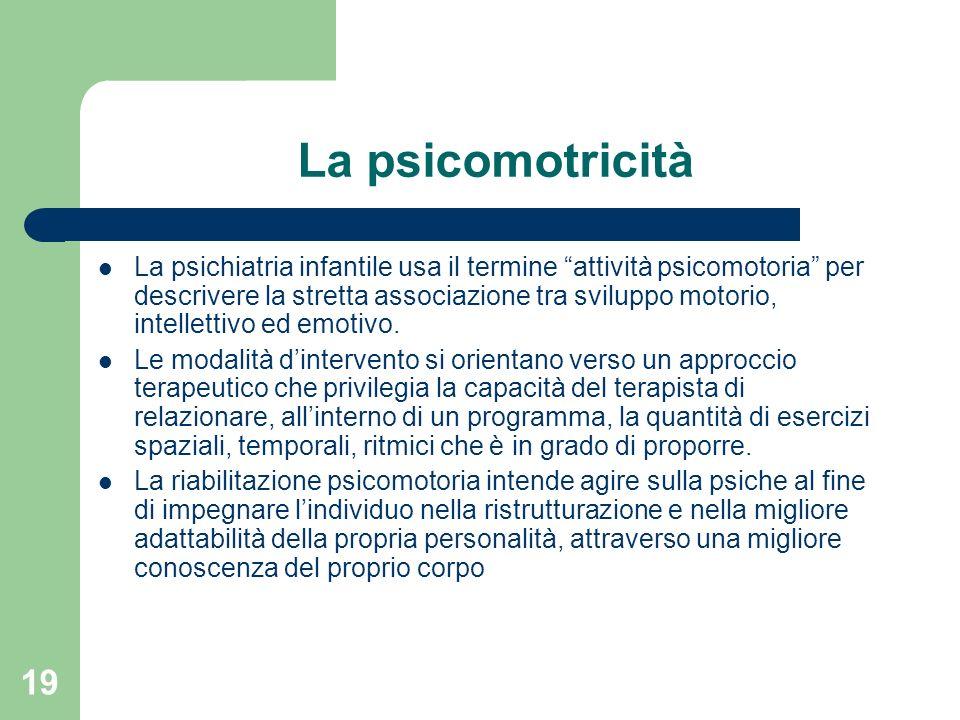 La psicomotricità