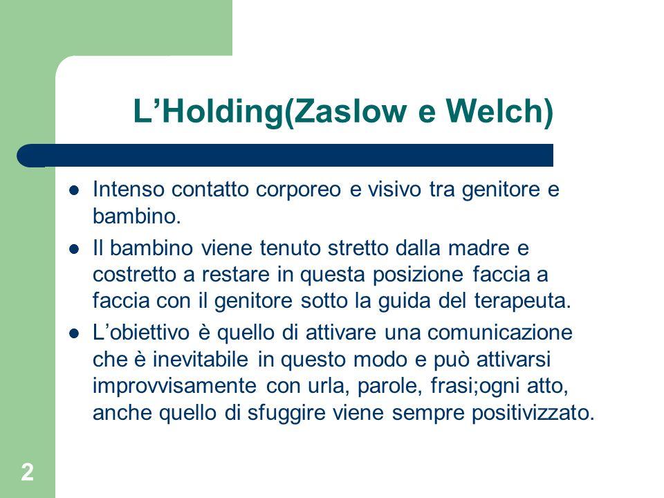 L'Holding(Zaslow e Welch)