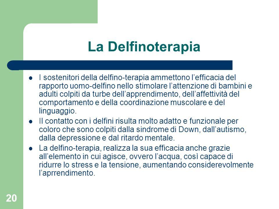 La Delfinoterapia
