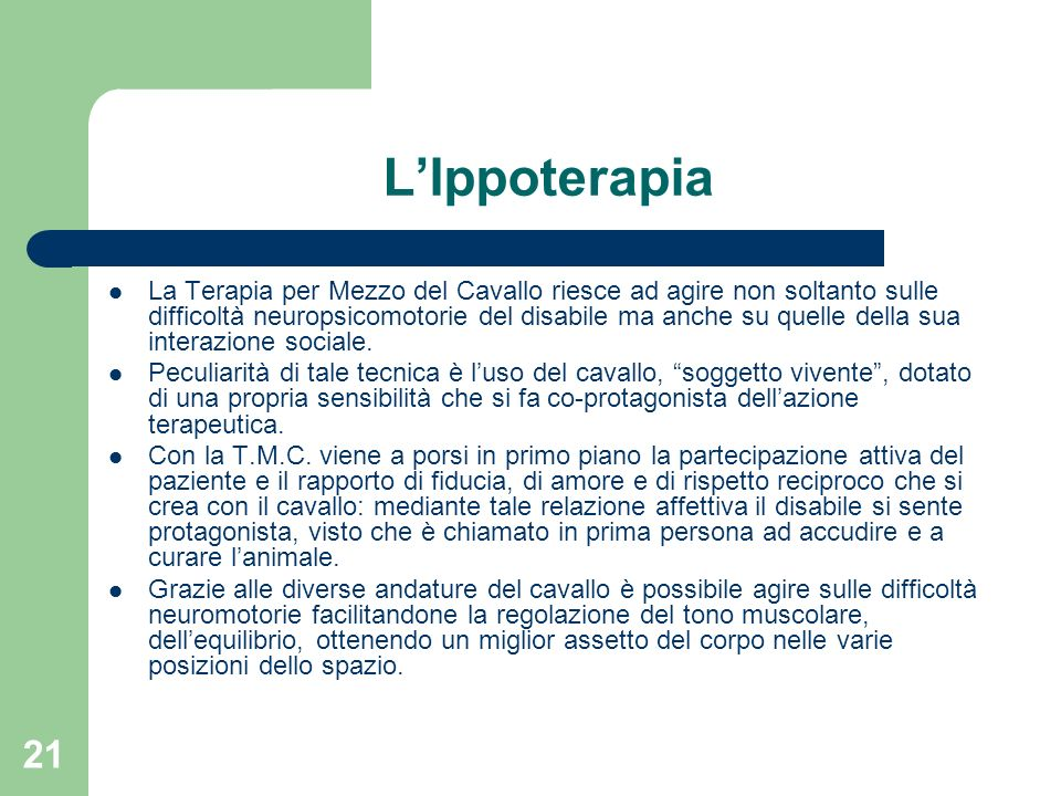 L'Ippoterapia