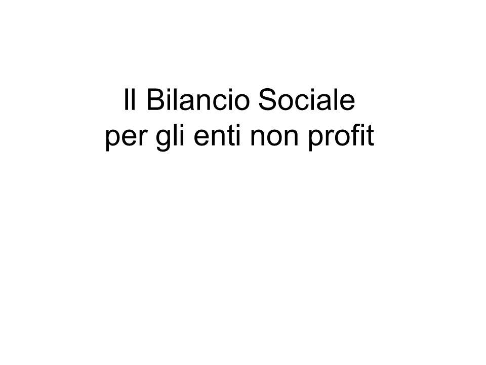 Il Bilancio Sociale per gli enti non profit