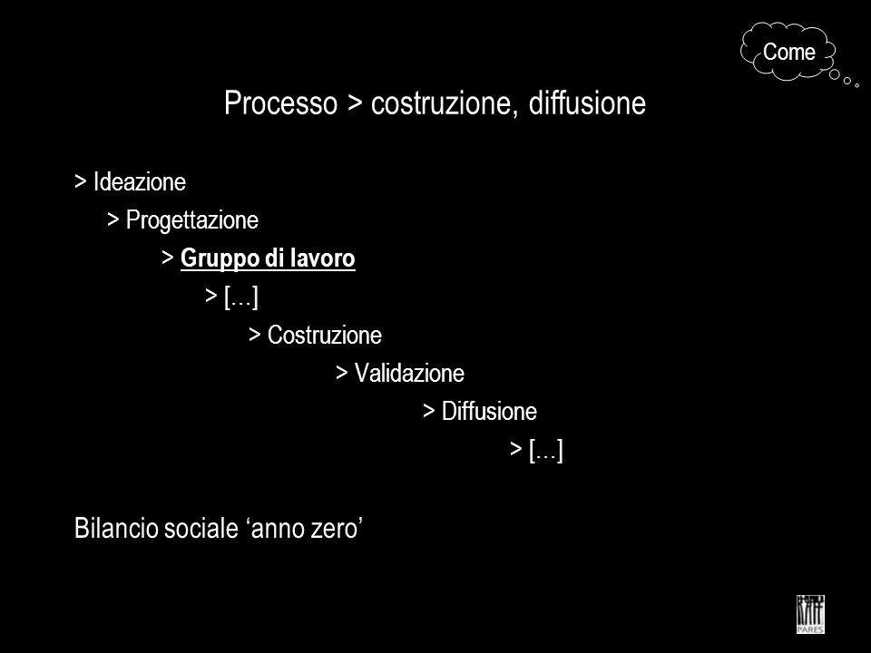 Processo > costruzione, diffusione
