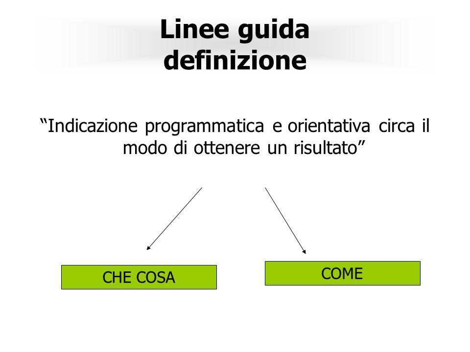 Linee guida definizione