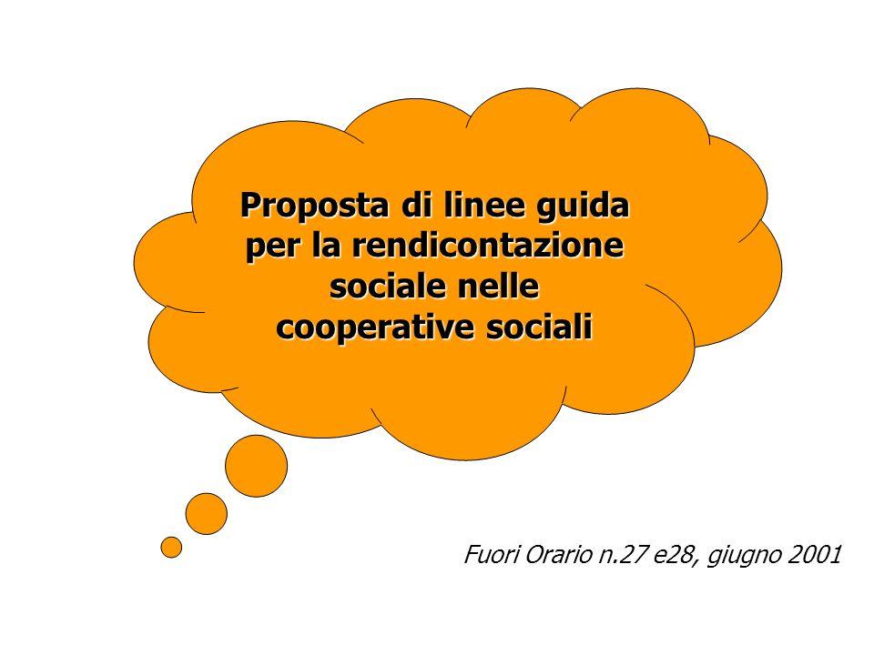 Proposta di linee guida per la rendicontazione sociale nelle cooperative sociali