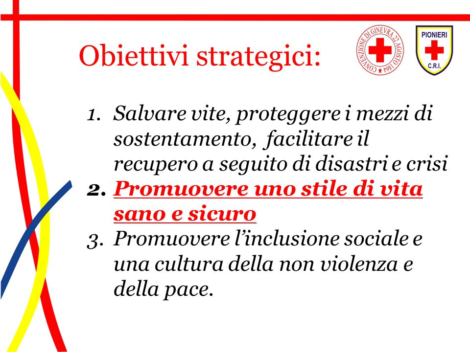 Obiettivi strategici: