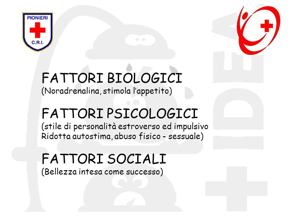 FATTORI BIOLOGICI (Noradrenalina, stimola l'appetito)