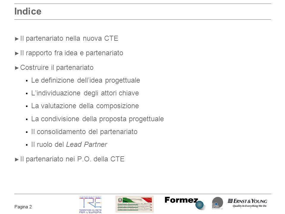 Indice Il partenariato nella nuova CTE