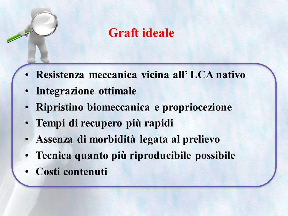 Graft ideale Resistenza meccanica vicina all' LCA nativo
