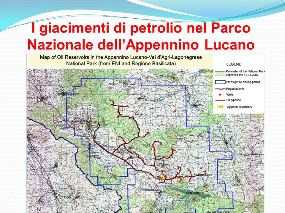 I giacimenti di petrolio nel Parco Nazionale dell'Appennino Lucano