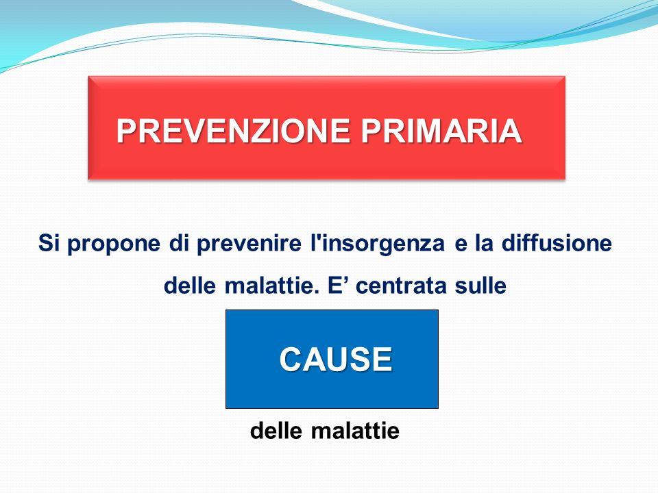 PREVENZIONE PRIMARIA CAUSE
