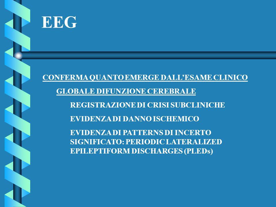 EEG CONFERMA QUANTO EMERGE DALL'ESAME CLINICO