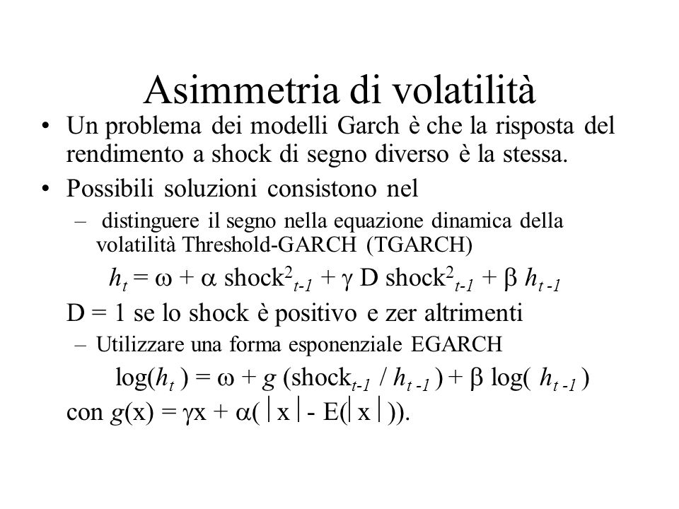 Asimmetria di volatilità