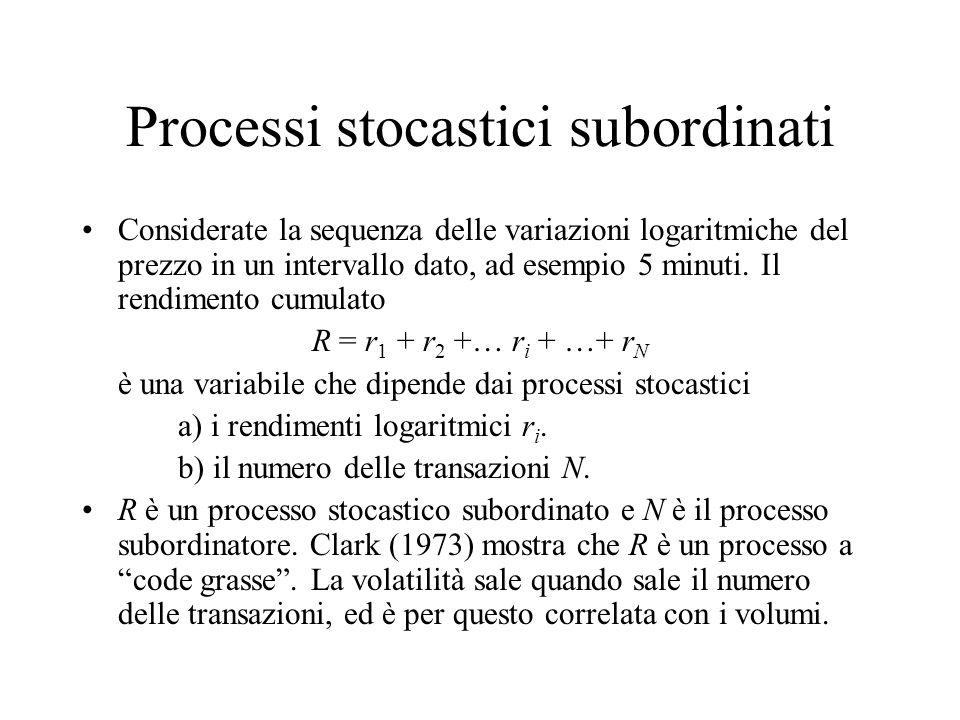 Processi stocastici subordinati