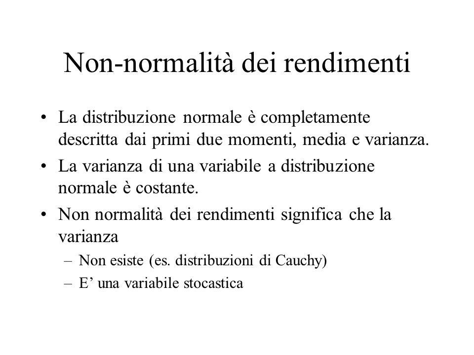 Non-normalità dei rendimenti