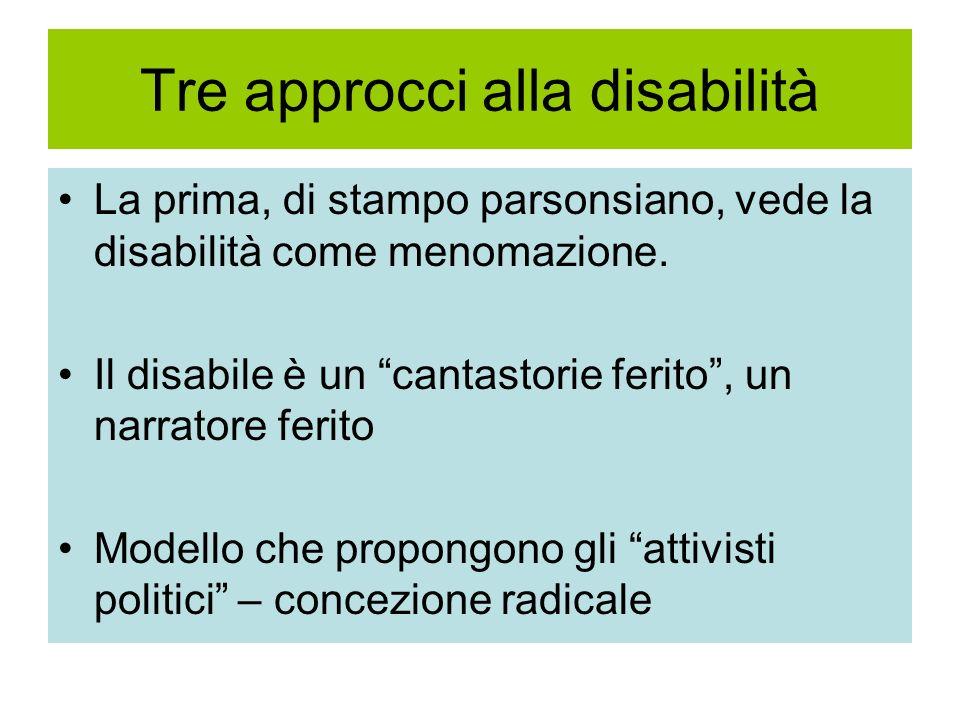 Tre approcci alla disabilità