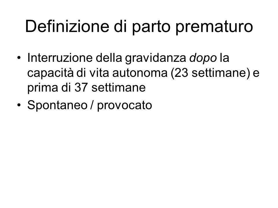 Definizione di parto prematuro