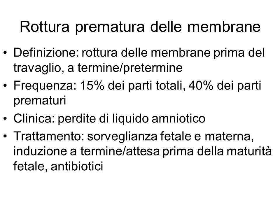 Rottura prematura delle membrane