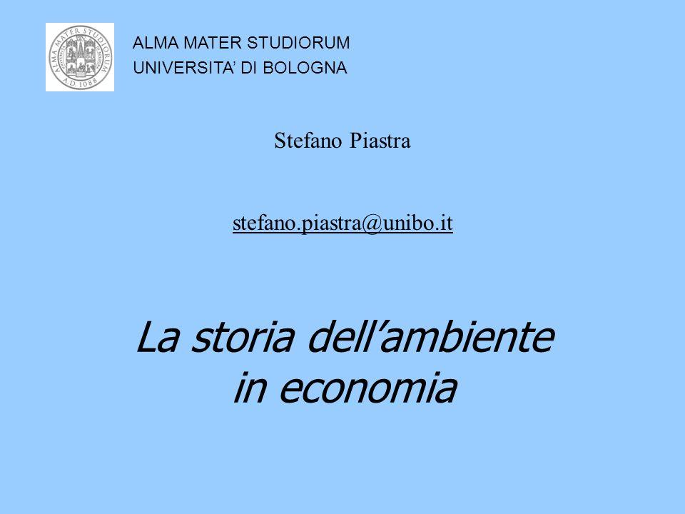 La storia dell'ambiente in economia