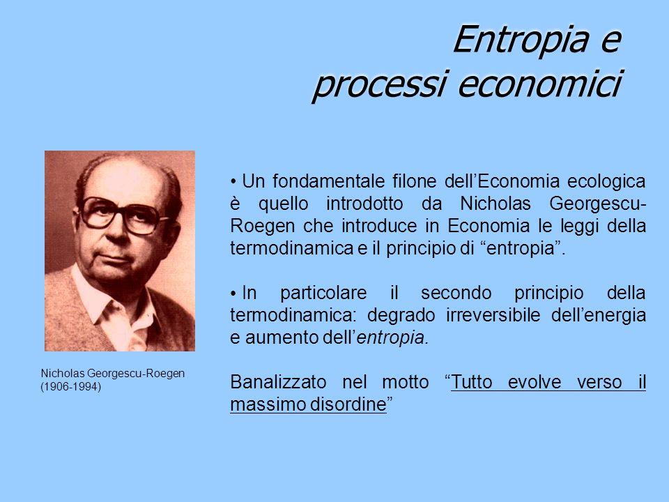 Entropia e processi economici
