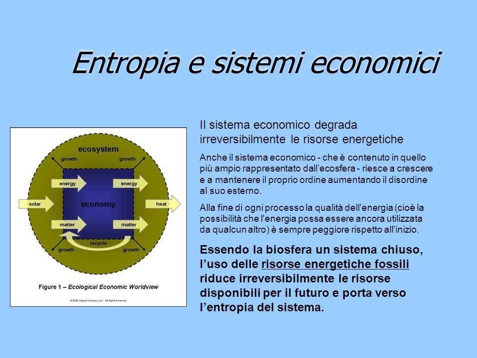 Entropia e sistemi economici