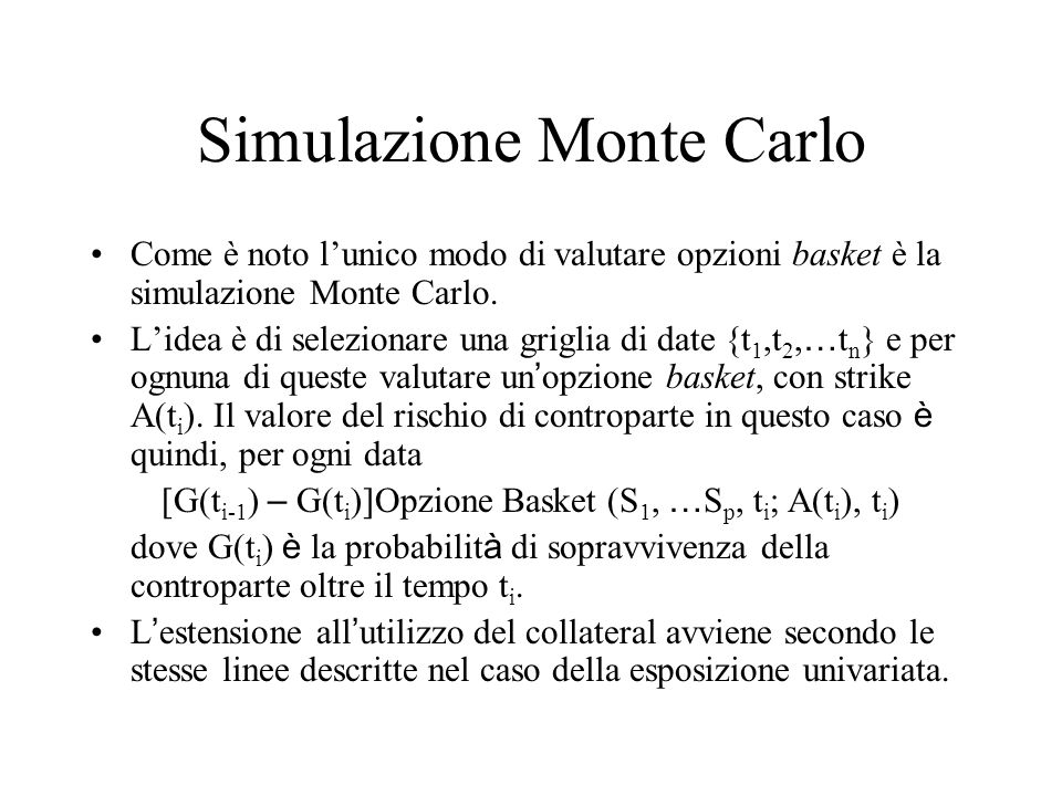 Simulazione Monte Carlo