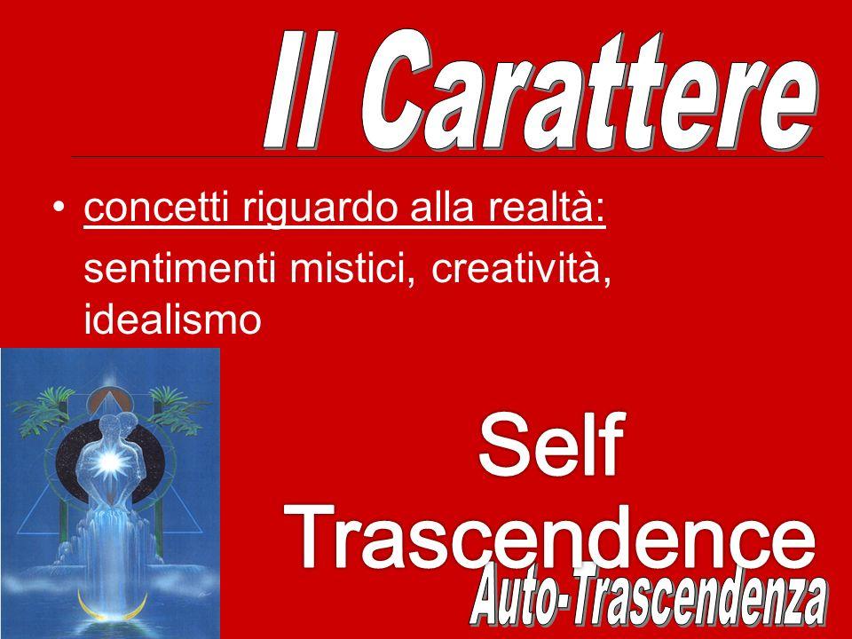 Self Trascendence Il Carattere concetti riguardo alla realtà: