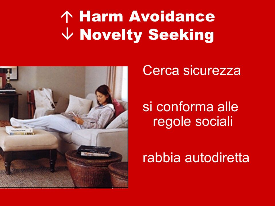  Harm Avoidance  Novelty Seeking