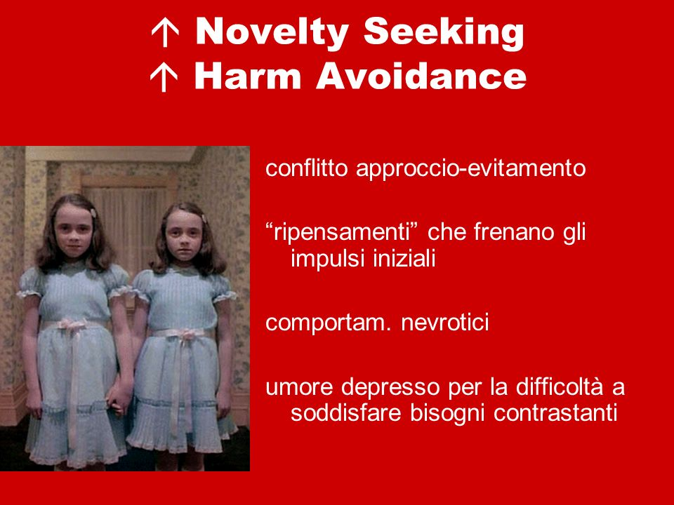  Novelty Seeking  Harm Avoidance