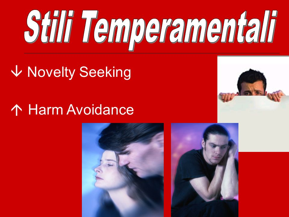 Stili Temperamentali  Novelty Seeking  Harm Avoidance