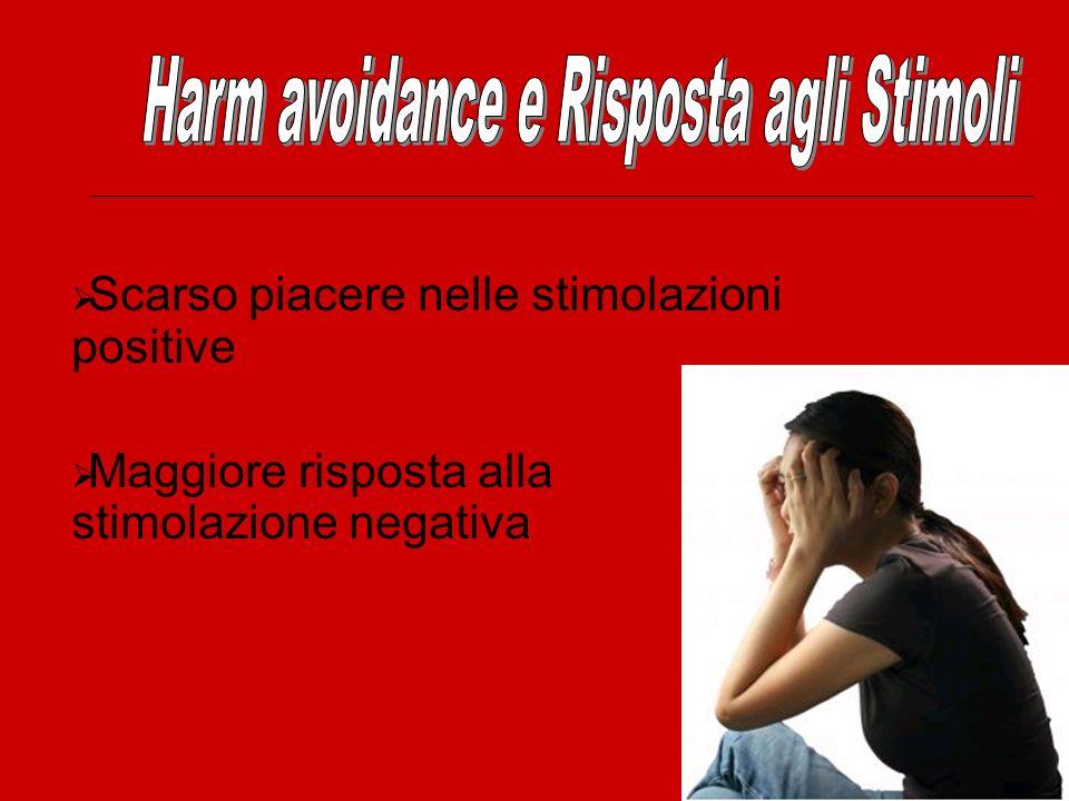 Harm avoidance e Risposta agli Stimoli