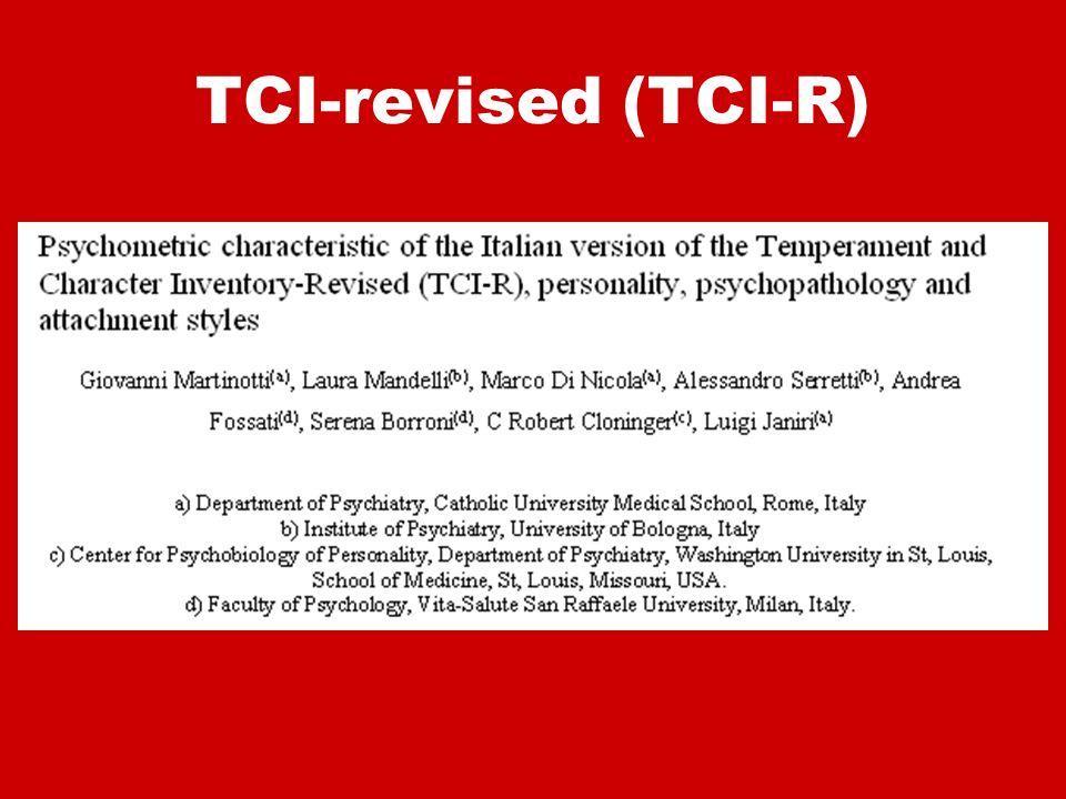 TCI-revised (TCI-R)