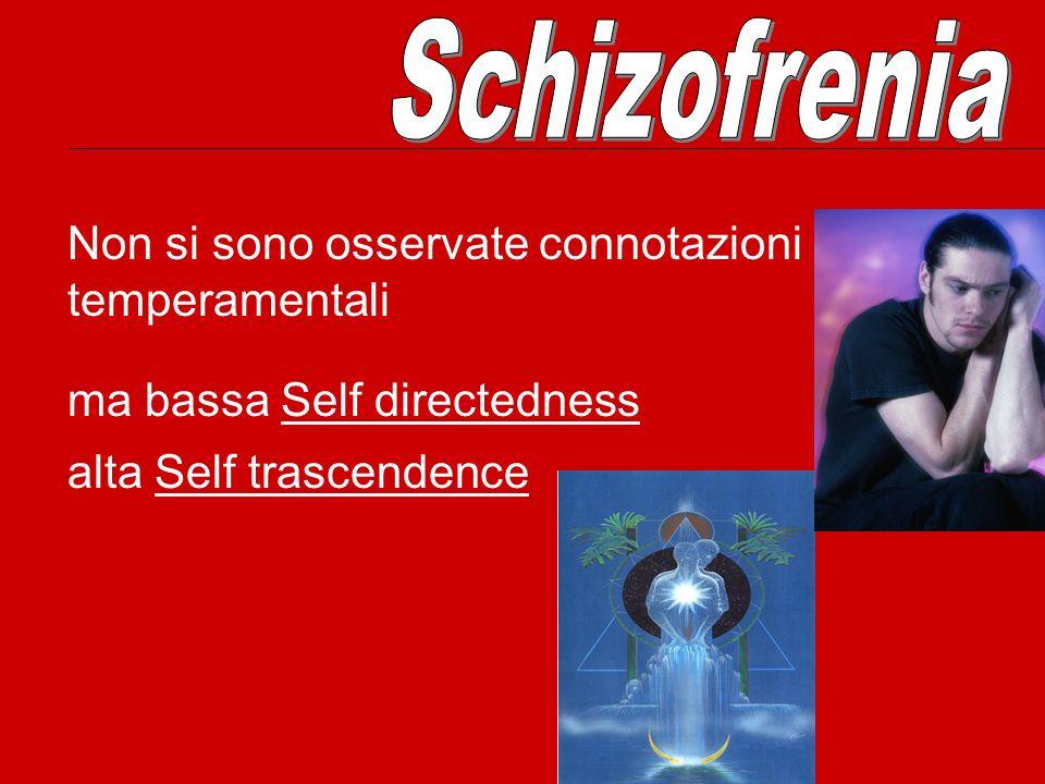 Schizofrenia Non si sono osservate connotazioni temperamentali