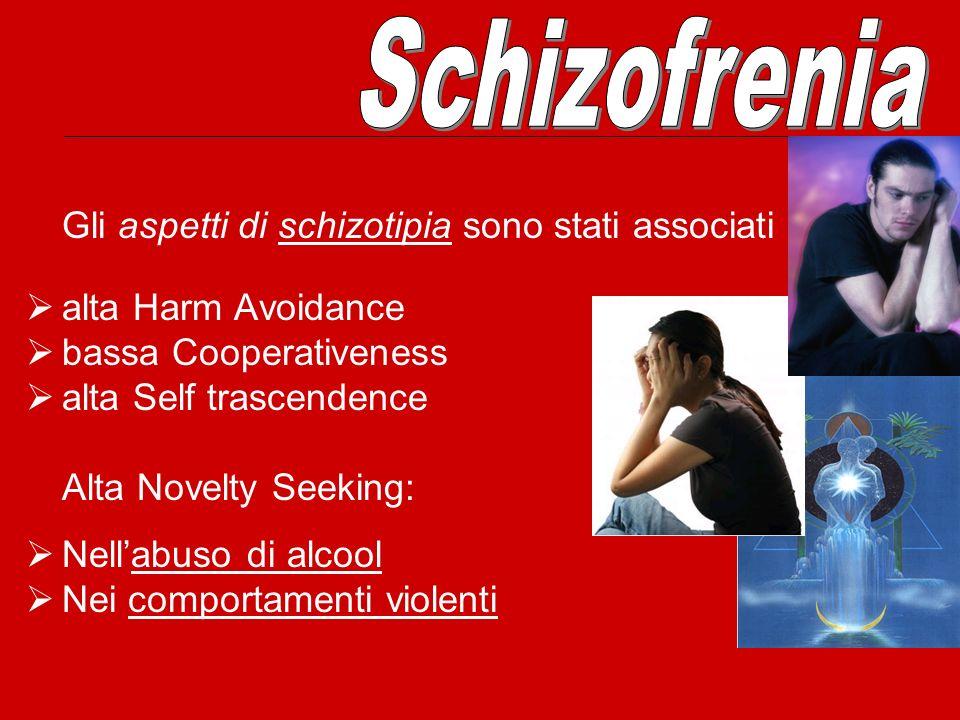 Schizofrenia Gli aspetti di schizotipia sono stati associati