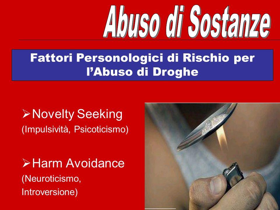 Fattori Personologici di Rischio per l'Abuso di Droghe