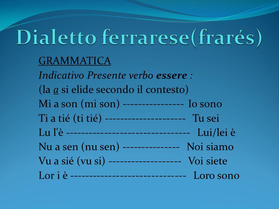 Dialetto ferrarese(frarés)