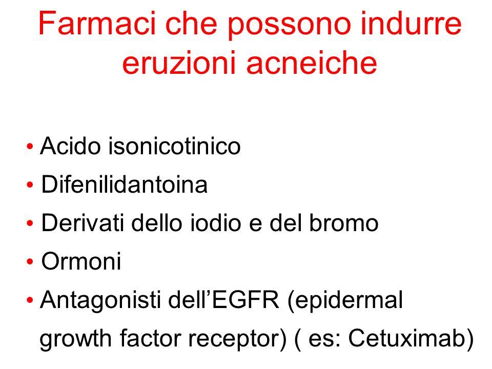 Farmaci che possono indurre eruzioni acneiche