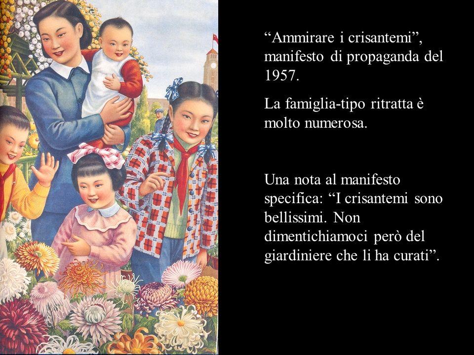 Ammirare i crisantemi , manifesto di propaganda del 1957.