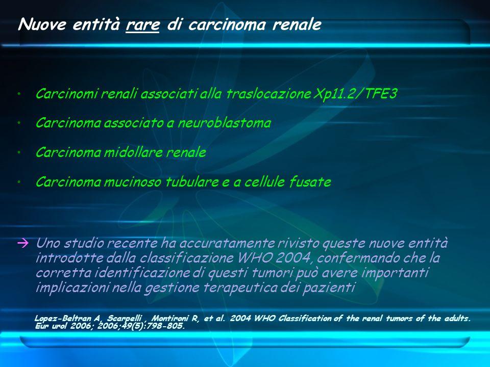 Nuove entità rare di carcinoma renale