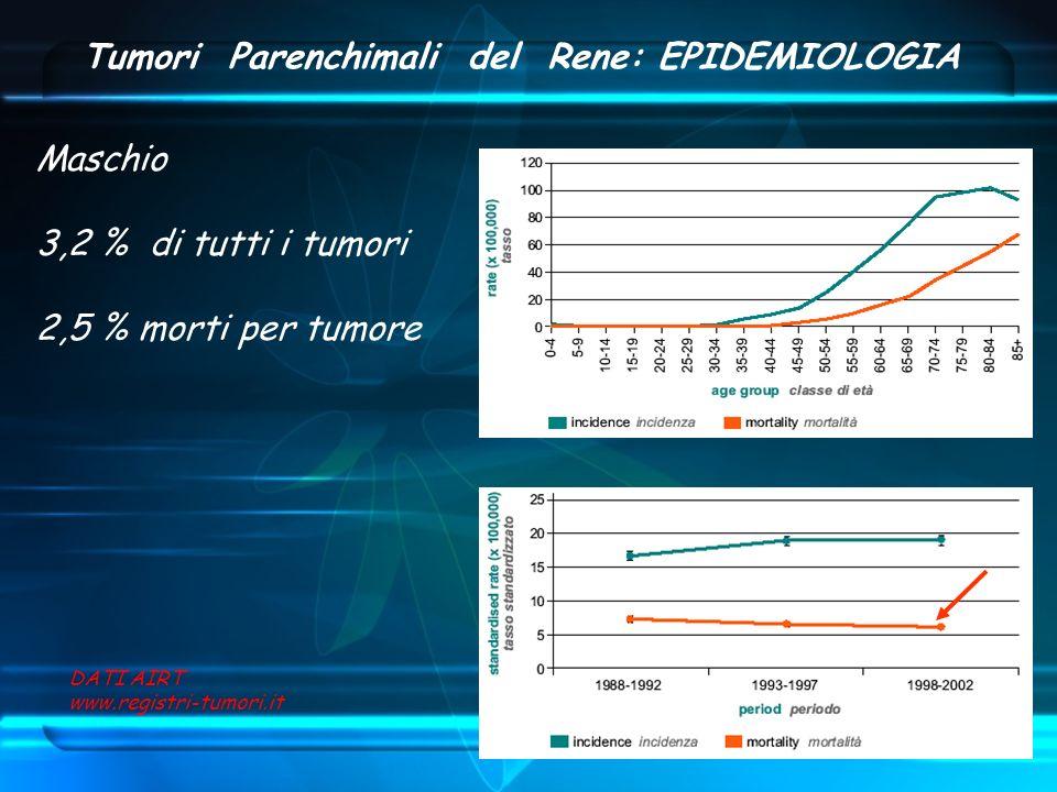 Tumori Parenchimali del Rene: EPIDEMIOLOGIA