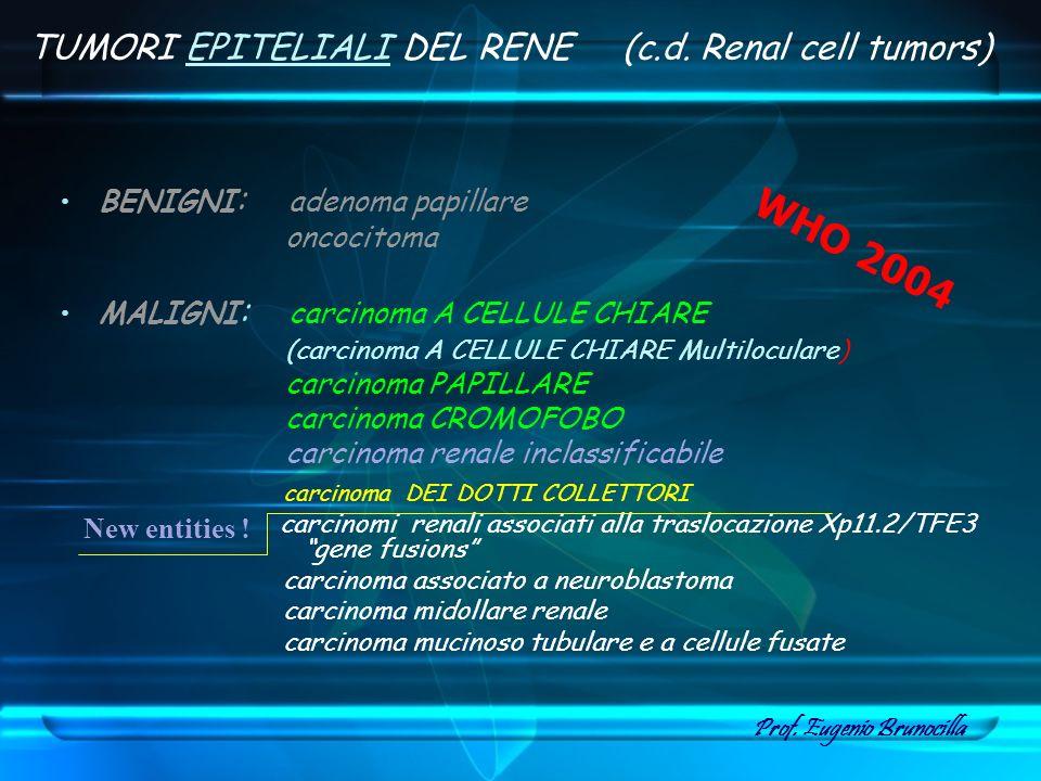 WHO 2004 TUMORI EPITELIALI DEL RENE (c.d. Renal cell tumors)